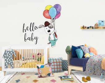 Hello baby / Wall Vinyl Decal Sticker / Nursery Baby Toddler Kid Children Room / Decor Decoration / Gift Present / Baby shower Birthday