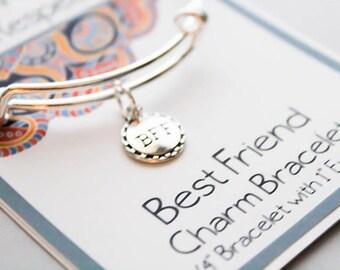 Friendship Bracelet - BFF Bracelet - Best Friends Bangle Charm Bracelet - Girlfriends Gift