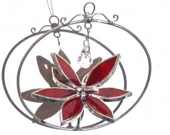 Vous choisissez n'importe quelle couleur et taille - vitrail 3D Lotus Spinner - toupie fleur Suncatcher ornement Home Decor fil cristal (fabriqué à la commande)