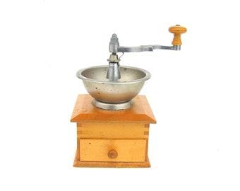 Coffee grinder Vintage coffee grinder Vintage coffee mill Wood coffee mill Soviet vintage coffee grider