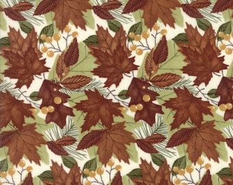 Moda COUNTRY ROAD Quilt Fabric 1/2 Yard By Holly Taylor - Church White 6662 18
