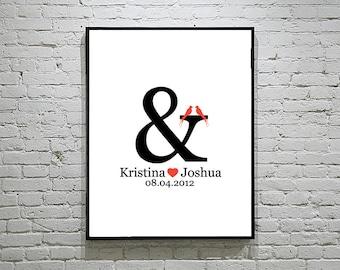 Wedding Guest Book Alternative Thumbprint or Signature Poster   Personalized Custom Alternative Guest Book   Wedding Keepsake   Wall Art