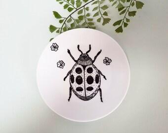 """Plate / / wall decor """"Ladybug"""""""
