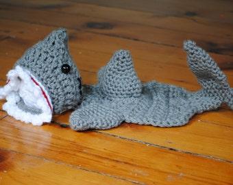 Newborn Shark Set Photo Prop, Crochet Shark Prop, Shark Week, Gender Neutral Prop, Ocean  Theme Newborn Prop/ Crochet Shark/ Baby Shark