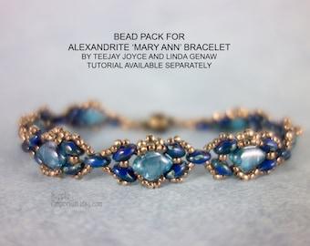 "Alexandrite ""Mary Ann""  Beadweaving Bracelet Bead Pack BB11 by Teejay Joyce and Linda Genaw - Tutorial Available Separately"