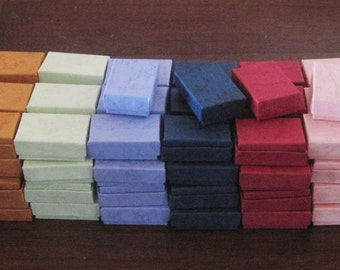 100 TINY Mixed Colors cotton filled boxes - perfect for CANADIAN Shipping
