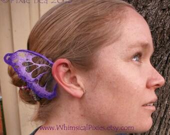 Custom Monarch Butterfly Ear Wings, fairy costume ear cuffs, elf ear jewellery, woodland bridal accessories