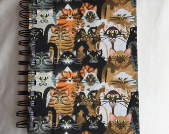 Cats Fabric-Covered Notebook