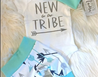 New to the Tribe, baby outfit, newborn baby outfit, baby girl outfit, baby boy outfit, tribe baby outfit, newborn tribe outfit, hospital