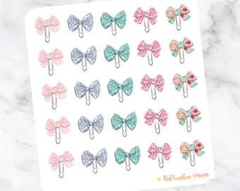 SUMMER MERMAID BOW Clips Stickers for your Planner Planner Clip Paperclip