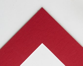 5x7 Mat for 8x10 Frame Red