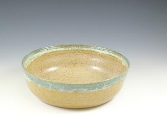Handmade Casserole Pottery Bowl, Bridal Shower Gift, Handmade Serving Bowl 9 Inch, Pottery Shallow Bowl, Ceramic Baking Bowl, Newlywed Gift