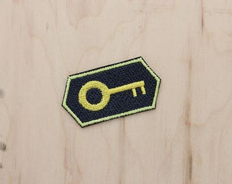 The Lock Out - Marriage Badge Add On - Funny Wedding Gift - Merit Badge - Skeleton Key - Applique - Cute - Newlywed- Husband Gift- Wife Gift