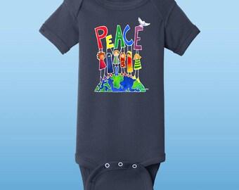 """Peace On Earth Bodysuit/""""onsie"""""""