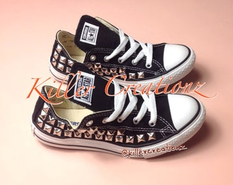 Custom studded low top Converse, ANY size/color, made to order
