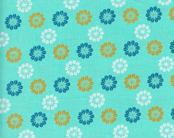 Cotton + Steel Melody Miller Mustang 0007 2 Flowers on Blue by the yard
