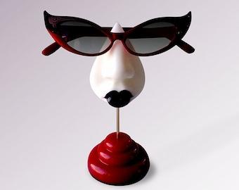 Goth eyeglass stand, table top decor, women's eyewear accessories, sister gift, girlfriend gift