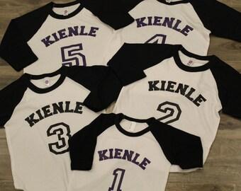 Kids birthday shirt, team jersey, family vacation, family reunion, holiday photo, christmas card, school team shirt