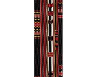 Tribal 2 Peyote Bead Pattern, Bracelet Cuff, Bookmark, Seed Beading Pattern Miyuki Delica Size 11 Beads - PDF Instant Download