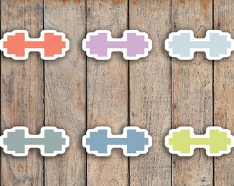 70 Dumbbell, Workout, Exercise, Fitness Icon Planner Stickers for 2018 inkWELL Press Planners IWP-Q23