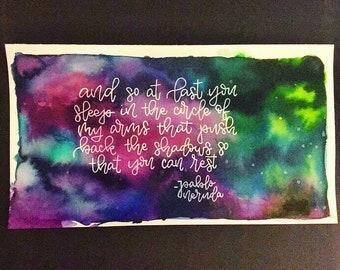 Pablo Neruda XXXIV Inspired Watercolor