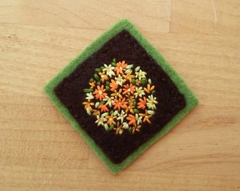 Autumn Floral Badge (Patch, Pin, Brooch, or Magnet)