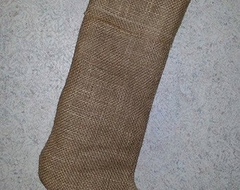 BLANK handmade burlap Christmas Stocking