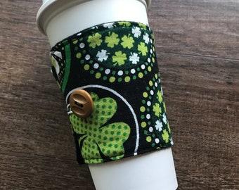 St. Patrick's Day cup cozy, coffee cozy, tea cozy, drink cozy, mug hug
