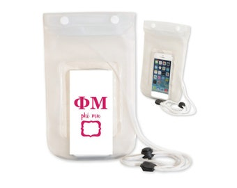 Phi Mu Waterproof Cell Bag