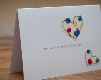 You are the apple of my eye Anniversary Card **SALE**