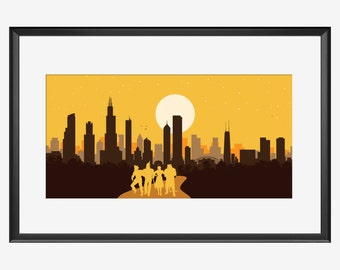 Chicago skyline, Chicago print, Chicago art, Chicago poster, Chicago, Wizard of Oz inspired print, Wizard of Oz art, Wizard of Oz print