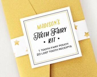 Benutzerdefinierte #Tooth #Fairy Tasche & verlorenen Zahn Quittungen - Zahnfee-Kit