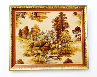 Plush Fabric Herd of Deer Wall Art