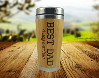 Pet Dad Gift - Gift for men - Personalized Bamoo Tumbler, Gift for Dad, Gift for Boyfriend, Gift for husband, Mens Gift, Dad Gift