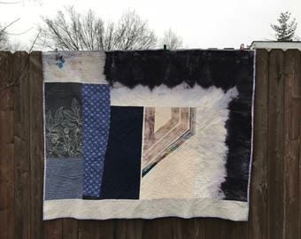 Modern Quilt / Handpainted Quilt