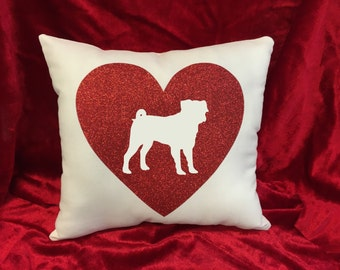 Pug Throw Pillow - great gift for the Pug dog lover!