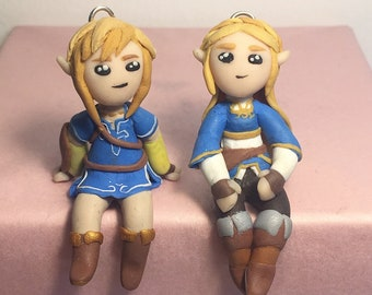 Legend of Zelda Tiny Handmade Link and Zelda Figurines