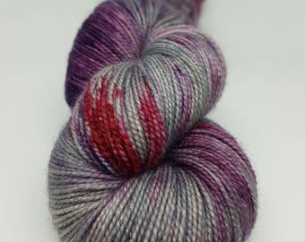 Skein of Superwash Merino - Nylon - Stellina / Fingering / Sock hand - dyed colors Pandhora