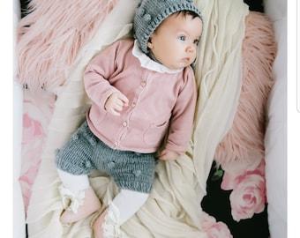 Shorts and bonnet set (Gray)