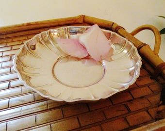 Vintage Sterling Bon Bon Dish, Wallace Sterling #210, Hollywood Regency Silver Catchall, Candy Dish