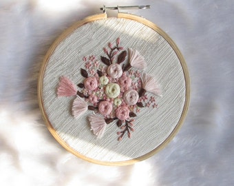 Dainty Florals embroidered hoop