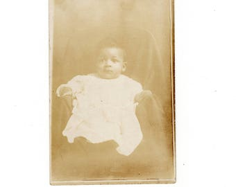 African American baby antique rppc photo