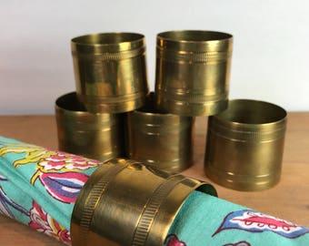 Vintage brass napkin holders - set pf 6