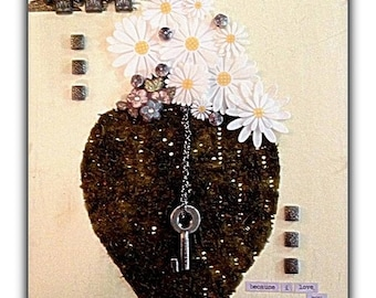 """Mixed Media Fine Art Collage ~ """"Because I Love You..."""""""