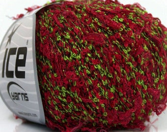 ICE MISC GREEN WOOL AND 50G FINGERING 4 //55 BORDEAUX