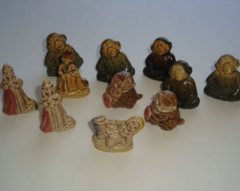Wade Red Rose Tea Figurines -Jill of Jack and Jill - Pied Piper - Kitten - Chimp