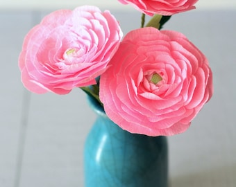 paper ranunculus ,paper flowers for mothers day