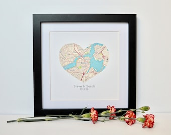 Personalized Gift for couple- Engagement Gift, Wedding Gift, Anniversary Gift, Gift for Groom, Gift for Bride, Map Gift, Travel Theme, TP