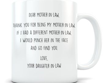 Best mother-in-law Mug, mother-in-law gift, gift from daughter in law, wedding party gifts, gift for mother-in-law