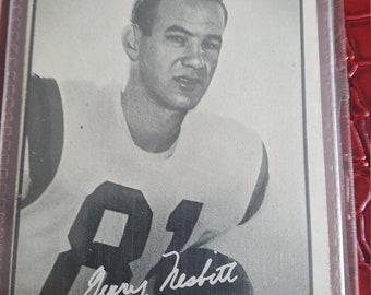 1961 Topps CFL Football #78 Gerry Nesbitt EX-NM Ottawa Rough Riders Kansas jhawk